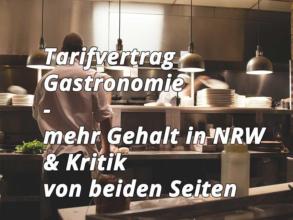 Tarifvertrag Gastronomie 2018 Wendl Koehler Steuerberatung