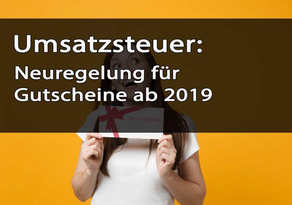 Titelbild Umsatzsteuer Neuregelung Gutscheine