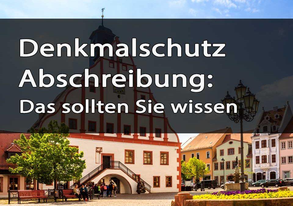 Denkmalschutz Abschreibung Titelbild